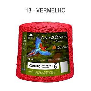 Barbante Amazônia 6 fios Cor 13 Vermelho 2 kg