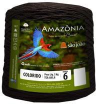 Barbante Amazônia 6 fios Cor 15 Marrom 2 kg