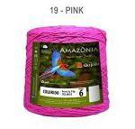 Barbante Amazônia 6 fios Cor 19 Pink 2 kg - São João