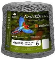 Barbante Amazônia 6 fios Cor 26 Cinza Mescla 2 kg - São João