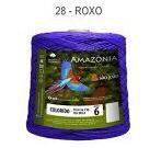 Barbante Amazônia 6 fios Cor 28 Roxo 2 kg - São João