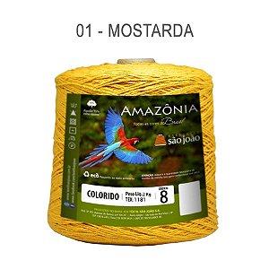 Barbante Amazônia 8 fios Cor 1 Mostarda 2 kg