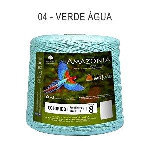 Barbante Amazônia 8 fios Cor 4 Verde Agua 2 kg