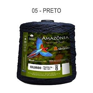 Barbante Amazônia 8 fios Cor 5 Preto 2 kg
