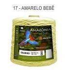 Barbante Amazônia 8 fios Cor 17 Amarelo Bebê 2 kg