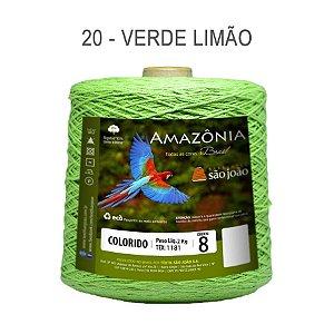Barbante Amazônia 8 fios Cor 20 Verde Limão 2 kg