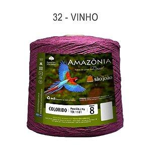 Barbante Amazônia 8 fios Cor 32 Vinho 2 kg