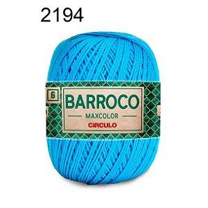 Barbante Barroco Maxcolor 6 Cor 2194 Turquesa (885 Tex) 200gr - Círculo