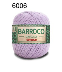 Barbante Barroco Maxcolor 4 Cor 6006 Lilás Candy (590 Tex) 200gr - Círculo