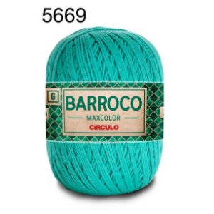 Barbante Barroco 6 Cor 5669 Tiffany (885 Tex) 200gr - Círculo