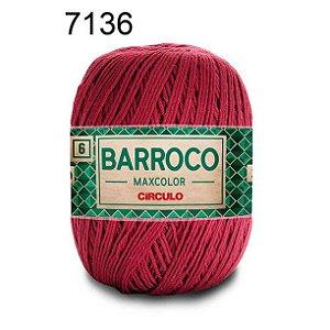 Barbante Barroco 6 Cor 7136 Marsala  (885 Tex) 200gr - Círculo