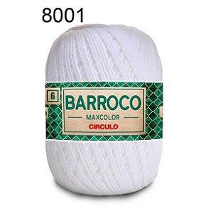 Barbante Barroco 6 Cor 8001 Branco  (885 Tex) 200gr - Círculo