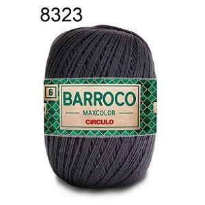 Barbante Barroco Maxcolor 6 Cor 8323 Cinza Ônix  (885 Tex) 200gr - Círculo