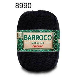 Barbante Barroco 6 Cor 8990 Preto  (885 Tex) 200gr - Círculo