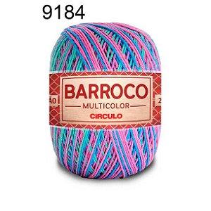Barbante Barroco Multicolor 6 fios Cor 9184 Sereia 226 Metros 200 Gramas