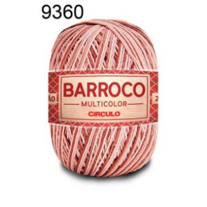 Barbante Barroco Multicolor 6 fios Cor 9360 Café 226 Metros 200 Gramas