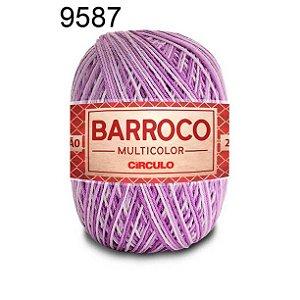 Barbante Barroco Multicolor 6 fios Cor 9587 Boneca 226 Metros 200 Gramas