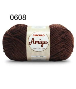 Lã Amiga Cor 0608 Chocolate 100 Gramas
