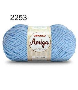 Lã Amiga Cor 2253 Azul Candy 100 Gramas