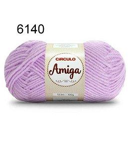 Lã Amiga Cor 6140 Lilás Candy 100 Gramas