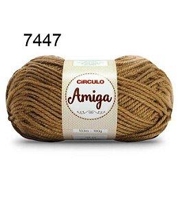 Lã Amiga Cor 7447 Avelã 100 Gramas