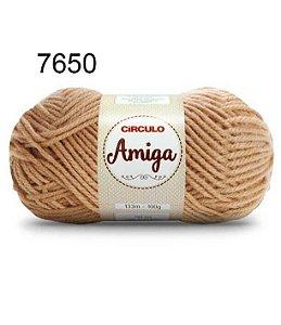 Lã Amiga Cor 7650 Castanho 100 Gramas