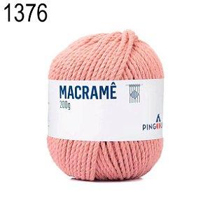 Linha Macramê Cor 1376 Rosa Chá 200 Gramas 75 Metros