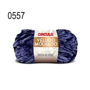 Lã Veludo Molhado Cor 0557 Anil Profundo 100 Gramas