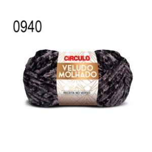 Lã Veludo Molhado Cor 0940 Preto 100 Gramas