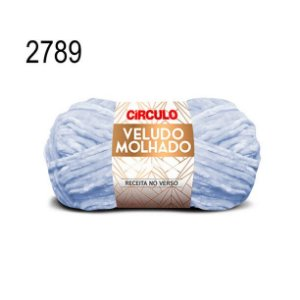 Lã Veludo Molhado Cor 2789 Enseada 100 Gramas