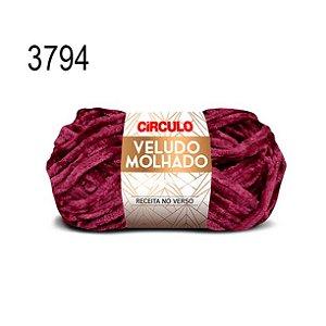 Lã Veludo Molhado Cor 3794 Bordô 100 Gramas