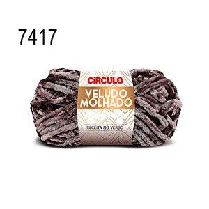 Lã Veludo Molhado Cor 7417 Chumbo 100 Gramas