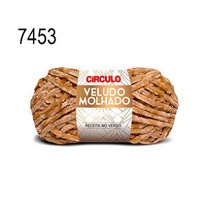 Lã Veludo Molhado Cor 7453 Castanha 100 Gramas