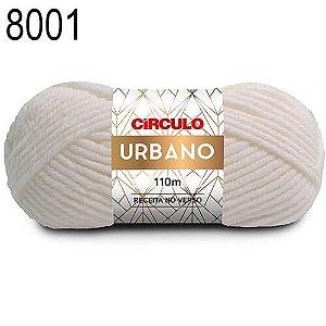 Lã Urbano Cor 8001 Branco 100 Gramas 110 Metros
