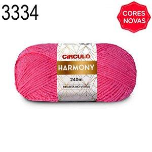 Lã Harmony Cor 3334 Tulipa 100 Gramas 240 Metros
