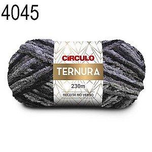 Lã Ternura Cor 4045 Mescla Cinza 100 Gramas 230 Metros