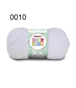Lã Mais Bebê Cor 0010 Branca 100 Gramas 500 Metros