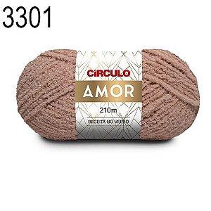 Lã Amor Cor 3301 Blush 100 Gramas 210 Metros