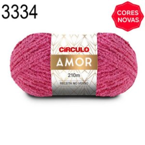 Lã Amor Cor 3334 Tulipa 100 Gramas 210 Metros