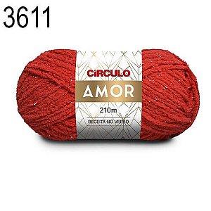 Lã Amor Cor 3611 Rubi 100 Gramas 210 Metros
