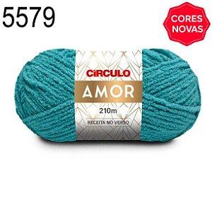 Lã Amor Cor 5579 Báltico 100 Gramas 210 Metros