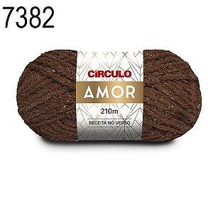 Lã Amor Cor 7382 Chocolate 100 Gramas 210 Metros