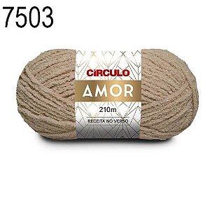 Lã Amor Cor 7503 Bege 100 Gramas 210 Metros