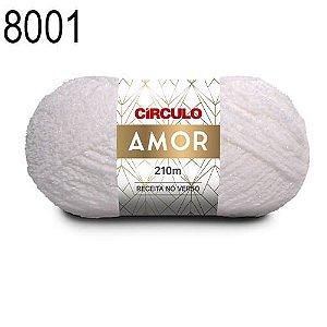 Lã Amor Cor 8001 Branca 100 Gramas 210 Metros