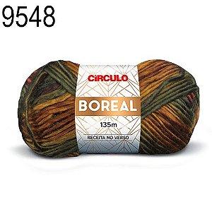 Lã Boreal Cor 9548 Floresta 100 Gramas 135 Metros
