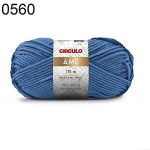 Lã Âme Cor 0560 Azul Celeste 100 Gramas 115 Metros