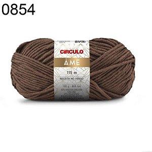 Lã Âme Cor 0854 Chocolate 100 Gramas 115 Metros