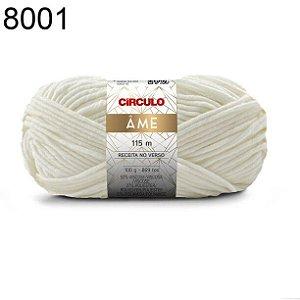 Lã Âme Cor 8001 Branca 100 Gramas 115 Metros