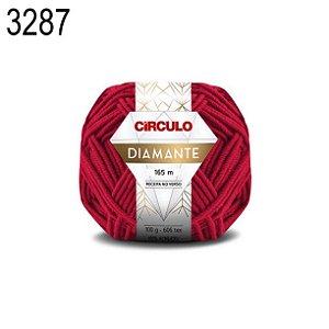 Lã Diamante Cor 3287 Paixão 100 Gramas 165 Metros