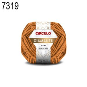 Lã Diamante Cor 7319 Ouro do Egito 100 Gramas 165 Metros